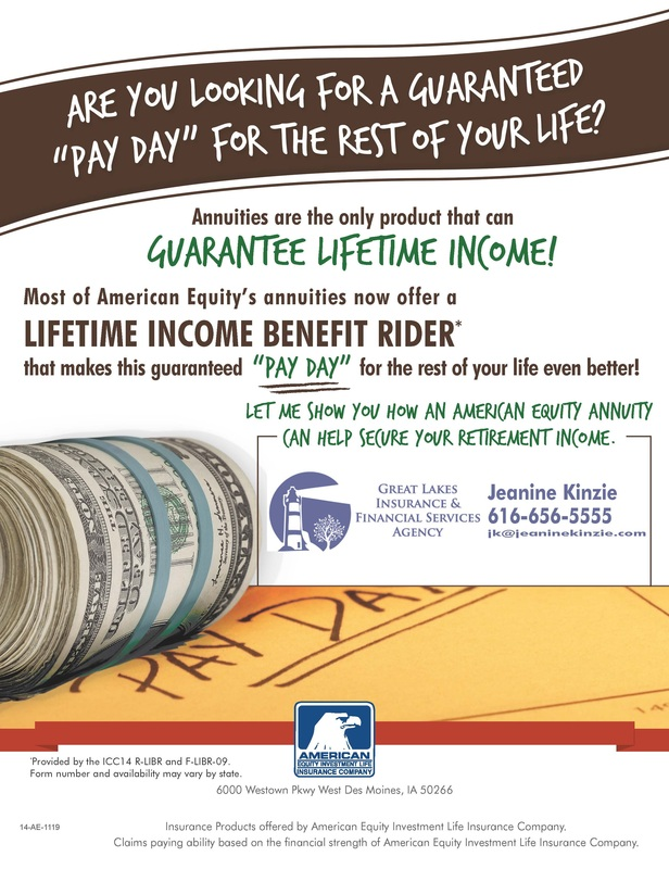 Lifetime income benefit rider
